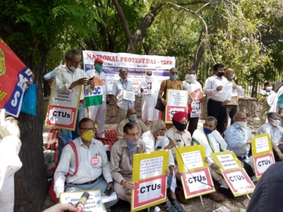 22nd May- Nationwide protest day observed by trade unions