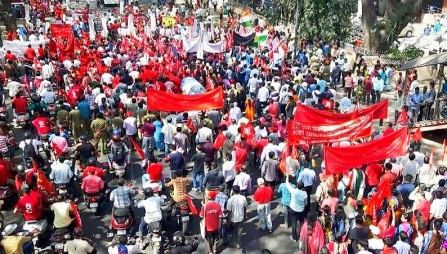 Historic Two Days' General Strike Starts on 8th January 2019  CITU Salutes the Working Class of India