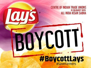 "CITU CALLS FOR BOYCOTTING THE POTATO PRODUCTS OF PEPSICO INCLUDING ""LAYS""  IN SOLIDARITY WITH THE STRUGGLES OF THE POTATO FARMERS OF GUJARAT AT THE CALL OF ALL INDIA KISAN SABHA"