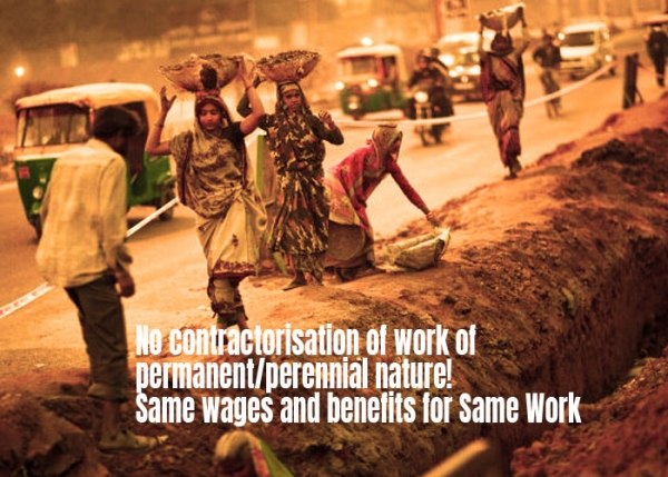 No contractorisation of work of permanent/perennial nature!